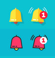 bell icon or doorbell flat cartoon and line vector image vector image