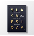 black friday minimalist typography banner poster vector image vector image