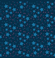 blue stars and triangles repeat pattern vector image