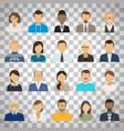 business people avatars on transparent background vector image vector image
