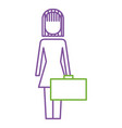 businesswoman holding briefcase standing character vector image vector image