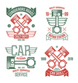 Car engine piston emblems vector image