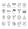 Car racing line icons Speed auto vector image vector image
