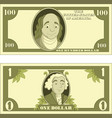 cartoon money isolated on white background vector image