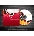 colorful cd cover vector image vector image