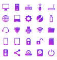 computer gradient icons on white background vector image