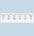 cuisine website and mobile app onboarding screens vector image