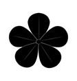 cute silhouette flower vector image