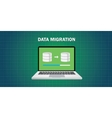 data migration in computer vector image vector image
