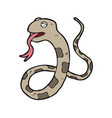 digitally drawn snake design hand drawing style vector image