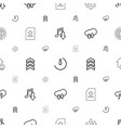 download icons pattern seamless white background vector image vector image