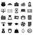 duty icons set simple style vector image vector image