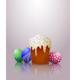 Easter cake eggs vector image vector image