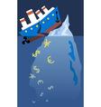 Financial Titanic vector image vector image