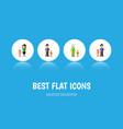 flat icon people set of son grandma father vector image vector image
