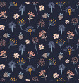 floral meadow blue seamless pattern vector image vector image