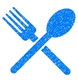 Fork And Spoon Grainy Texture Icon