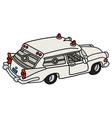 funny old white ambulance vector image