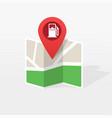gasoline petroleum fuel station on city map vector image vector image