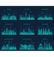 German cities linear style vector image vector image
