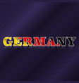 germany flag symbol vector image vector image
