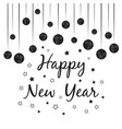 greeting with happy new year for posters party vector image vector image