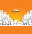 halloween background with haunted house and fir vector image vector image