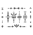 hand drawn tribal collection vector image vector image