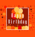 Happy birthday card celebration banner festive