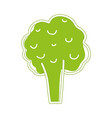 health broccoli vegetable icon vector image vector image