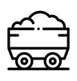 heavy truck with material metallurgical icon vector image vector image