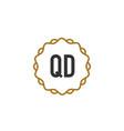initial letter qd elegance creative logo vector image vector image