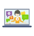 Interactive Learning on Laptop Screen vector image vector image