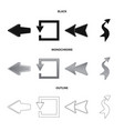 isolated object of element and arrow icon set of vector image