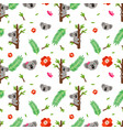 koala seamless pattern vector image vector image