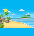 landscape of palm tree on beach vector image vector image