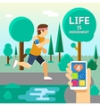 life is movement vector image vector image