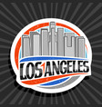 logo for los angeles vector image