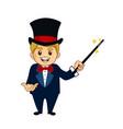 magician mascot cartoon vector image vector image