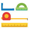 Measurment tools Flat isolated on white Flat icons vector image