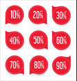 modern offer sale red tag isolated vector image vector image
