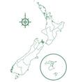 New Zealand vector image vector image