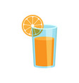 orange fruit juice icon in flat style orange vector image