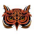 owl tattoo shape vector image vector image