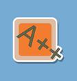paper sticker on stylish background exam score vector image vector image