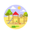 playground with trees vector image