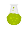 potion flask icon flat style vector image vector image