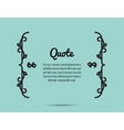 Quote Frame Card vector image