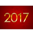 Red New Year 2017 abstract background vector image vector image