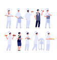 restaurant team food specialist flat chef and vector image vector image